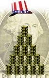 Amerikanisches Geld und Schmieröl Lizenzfreies Stockbild