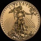 Amerikanisches Gold Eagle Walking Liberity Stockfotos