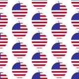 Amerikanisches großes Apfelmuster Lizenzfreie Stockfotografie