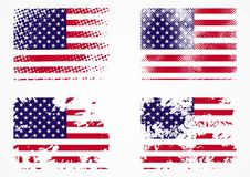 Amerikanisches Grunge Markierungsfahnen-Set Stockbilder