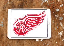 Amerikanisches Hockey-Team-Logo der Detroit Red Wings Stockbild