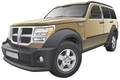 Amerikanisches kompaktes SUV Stockfoto