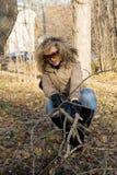 Amerikanisches Mädchen im Park Stockfotografie