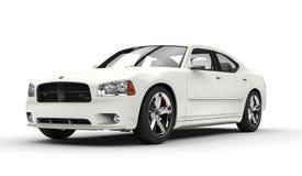 Amerikanisches Motor- Weiß stockfotos