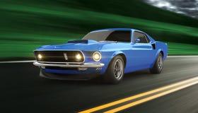 Amerikanisches Muskelauto Lizenzfreie Stockfotos