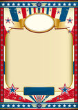 Amerikanisches Plakat Retro- Lizenzfreies Stockfoto