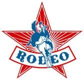 Amerikanisches Rodeo-Cowboypferd stock abbildung