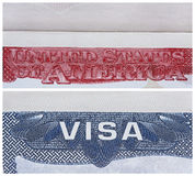 Amerikanisches US-Visum Lizenzfreies Stockbild