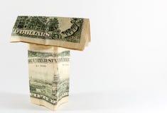 Amerikanisches USA-Dollar-Haus Stockbild
