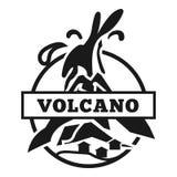 Amerikanisches Vulkanlogo, einfache Art lizenzfreie abbildung