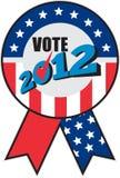Amerikanisches Wahl USA-Farbbandhäckchen 2012 Stockfotos