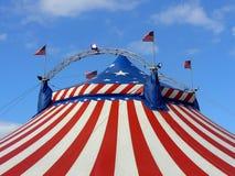 Amerikanisches Zelt der großen Oberseite des Zirkuses Lizenzfreies Stockfoto