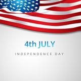 Amerikansk affisch 4 juli Royaltyfria Bilder