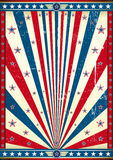 Amerikansk affischgrunge Royaltyfria Bilder