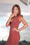 Amerikansk aktris Eva Mendes Royaltyfria Bilder