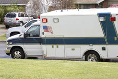 Amerikansk ambulans Arkivbild