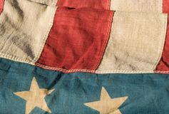 amerikansk antik flagga Arkivfoton