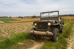 amerikansk armébil Arkivfoton