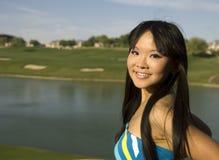 amerikansk asiatisk kvinna royaltyfria foton
