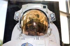 amerikansk astronautavståndsdräkt Arkivbild