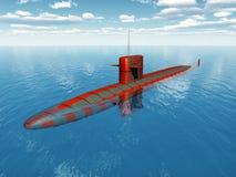 Amerikansk atomubåt Fotografering för Bildbyråer