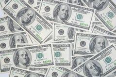amerikansk bakgrund fakturerar dollar hundra Royaltyfri Bild