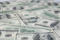 amerikansk bakgrund fakturerar dollar hundra Royaltyfria Foton
