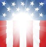 amerikansk bakgrundsflagga Royaltyfri Foto