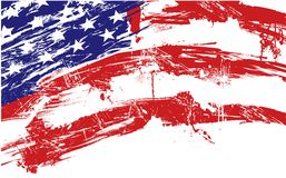 amerikansk bakgrundsflagga Royaltyfri Fotografi