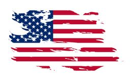 amerikansk bakgrundsflagga Arkivbilder