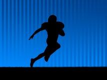 amerikansk bakgrundsfotboll Fotografering för Bildbyråer