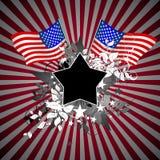 amerikansk bakgrundstappning stock illustrationer