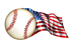 amerikansk baseballflaggaillustration Royaltyfri Fotografi