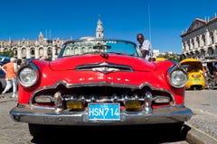amerikansk bil gammala cuba Fotografering för Bildbyråer