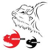 Amerikansk bison stock illustrationer