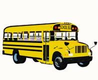 amerikansk bussskolayellow Arkivbild