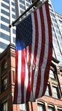 amerikansk byggnadsflagga Royaltyfria Bilder