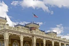 amerikansk byggnadsflagga Arkivfoton