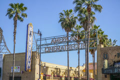 Amerikansk Cinematheque på filmbiografen för El Capitan i Hollywood - LOS ANGELES - KALIFORNIEN - APRIL 20, 2017 royaltyfri foto