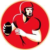 Amerikansk cirkel för Quarterbackfotbollsspelarebortgång Royaltyfri Fotografi