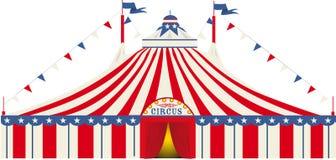 Amerikansk cirkus för stor överkant stock illustrationer