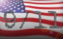 amerikansk collageflagga vektor illustrationer