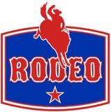 amerikansk cowboyhästrodeo stock illustrationer
