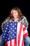 amerikansk cowgirl Royaltyfria Foton
