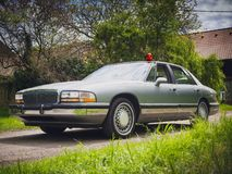 Amerikansk detektiv- bil arkivbild