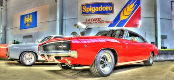 Amerikansk Dodge för klassisk 60-tal uppladdare Royaltyfria Foton
