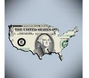 amerikansk dollar en stock illustrationer