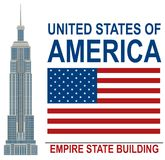 Amerikansk Empire State Buildingillustration royaltyfri illustrationer