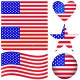 Amerikansk etikettuppsättning. Arkivfoton