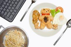 Amerikansk för stilfrukost för stekte ris uppsättning fotografering för bildbyråer